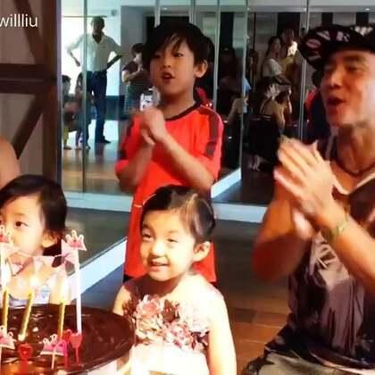 小泡芙的生日快樂歌影片,分享給你們!