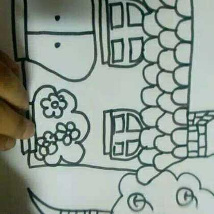 一幅#儿童简笔画##简笔画#希望你们可以喜欢。多多点赞。