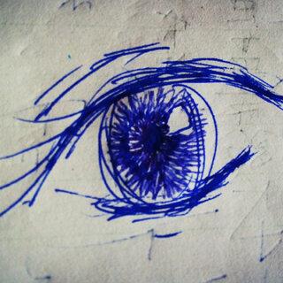#眼睛##随手画##草稿纸#画完之后,我不敢说话了。。。