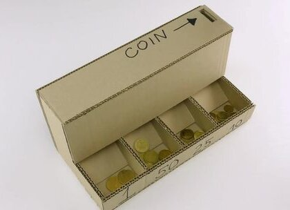 教你DIY硬币分离机,好好玩的样子😁#时尚##美妆#