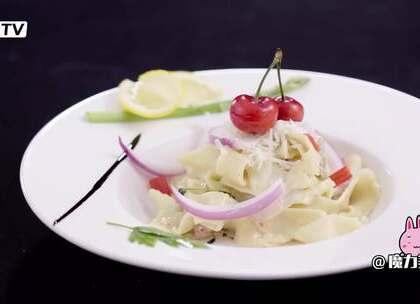 纯手工的意大利宽面,自己做才会更有味道#魔力美食##美食##意面#