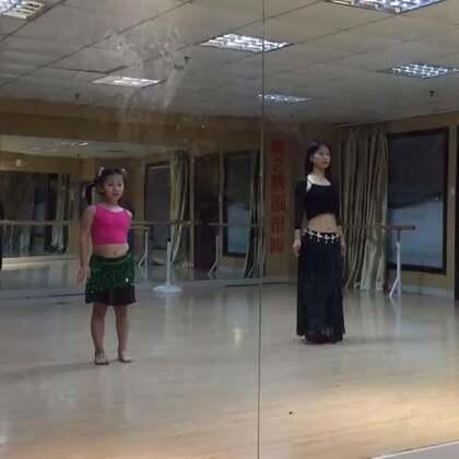 #舞蹈##肚皮舞#母女组合肚皮舞:初级鼓舞 #东方舞#