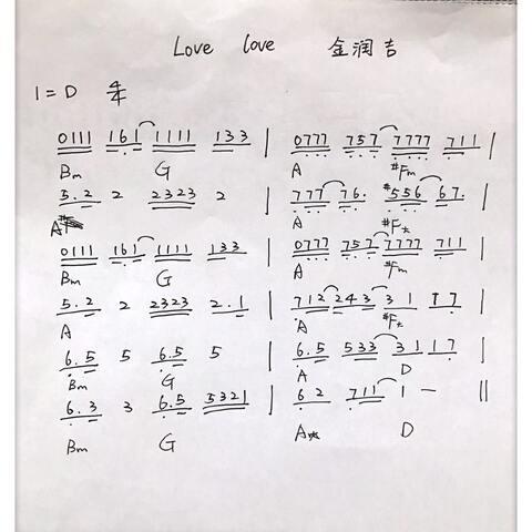 love love 金润吉 双世宠妃 插曲 自己扒谱,只 音乐视频 菲儿弹琴1给你