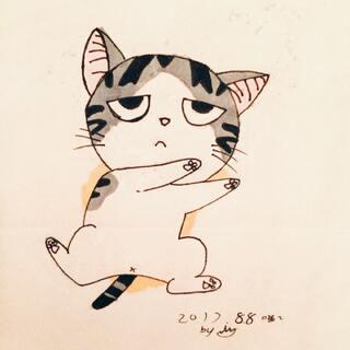 喵#日本动漫##喵了个咪##马克笔画#