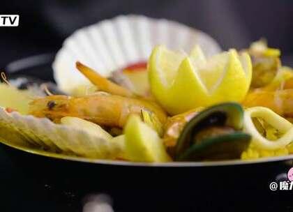 海鲜饭,足量的海鲜和鲜香的米饭一锅出就是最幸福的事情#魔力美食##海鲜##西班牙#