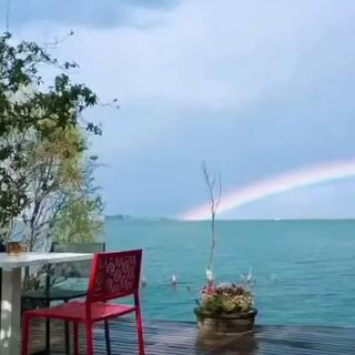 大理的彩虹🌈很美呀!#全民吐彩虹#