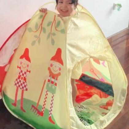 小小帐篷⛺️俩姐妹👭都挺喜欢😄#宝宝#