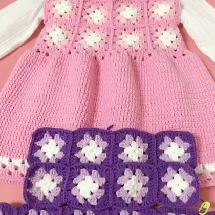 祖母方格背心裙教程-11#手工#腰围和胸围部分的拼接方法其实和单片的拼接方法是一样的哦😊