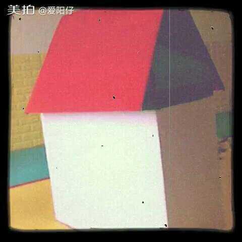 23-8.27創意課 紙箱小房子涂色