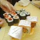 鱼腩虾卷(紫菜、寿司饭、吉利虾、清瓜丝、千岛酱)#美食##寿司篇#@寿司成仔 @🍣寿司贝仔 @Jeonghohyun @影子!俊 @寿司🍣华仔