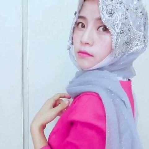 穆斯林纱巾戴法之马来款图片