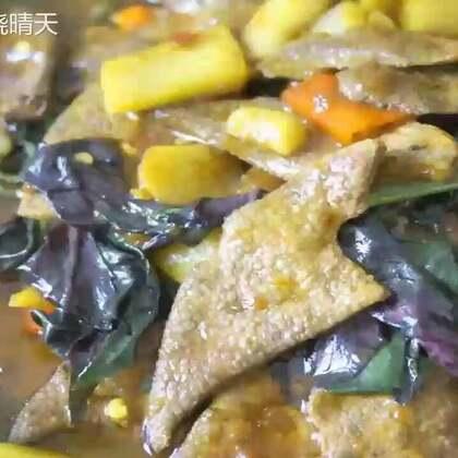 〈雪皮菜炒猪干〉妈妈说这个菜可以补血,抗病毒。。#美食##邹家晓晴天#