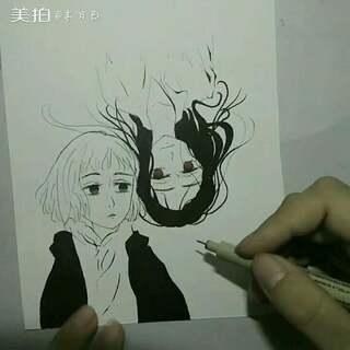 #马克笔画##画画的女孩最美##00后绘画大赛#