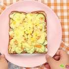 想要吃披萨,教你最简单的披萨做法,用吐司就能做披萨!#开学季早餐表##美食##早餐#