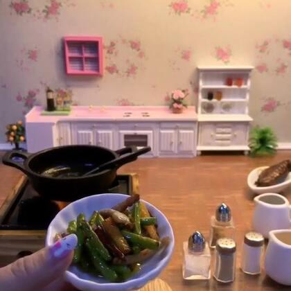 #日志##迷你厨房# 蒜苔炒肉 味道太香啦