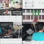 今天出四个乐器小教程 乐句都不是很难但很实用 宝宝们学起来🤓 Piano:初级blues乐句 Guitar:Jazz blues comping Bass:simple slap lick Drum:fake double bass drum lick