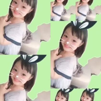 #宝宝##梨涡妹妹金在恩#卖萌的小兔纸😊