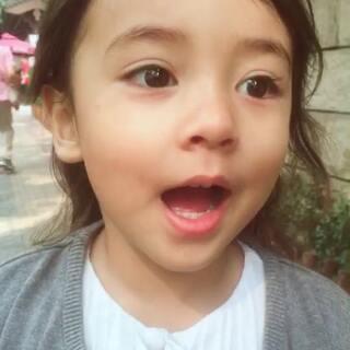 自己#混血宝宝#非要求去幼儿园,今天带她看看去~#萌宝宝##宝宝成长记#