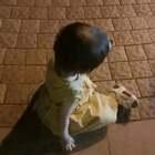 #宝宝##萌宝宝##可爱宝宝#昨晚小虾米跟着奶奶去跳广场舞😂😂