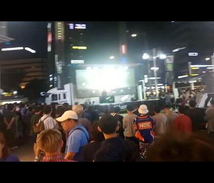 在韩国明洞演出 #音乐##rapper##嘻哈#