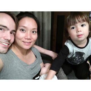 #自拍##宝宝##荷兰混血小小志&柒#人生第一次一家四口的合照❤️