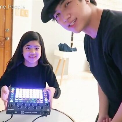 LIL SISTER DJ NIANA IN THE HOUSE! _ Ranz and Niana #音乐##舞蹈#