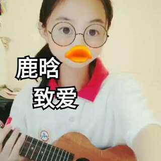 这个视频就蜜汁像素•﹏•#音乐##鹿晗致爱your song##尤克里里弹唱#讲真,新学期作业是真多🙂@美拍小助手