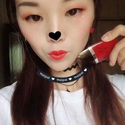 @美拍小助手 @葵儿kuki🔆 @Pony_朴惠敏 #谢娜代言葵儿胭脂女皇唇釉#喜欢红色你们呢?主要是不沾色持久♡