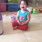 一开始被姐姐惹哭,后面想出去玩,感觉玩具半天收不干净😂