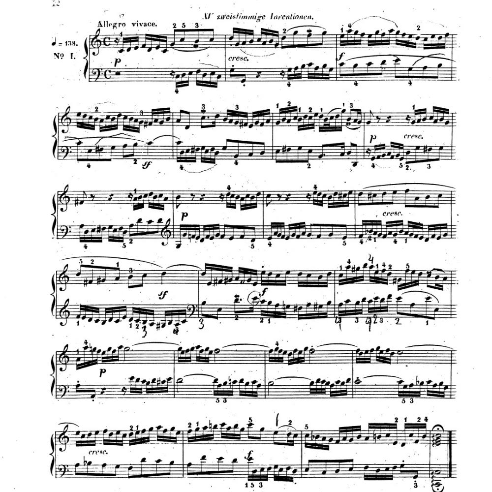 (来自巴赫二部创意曲第一首)             39 15  转发      分享