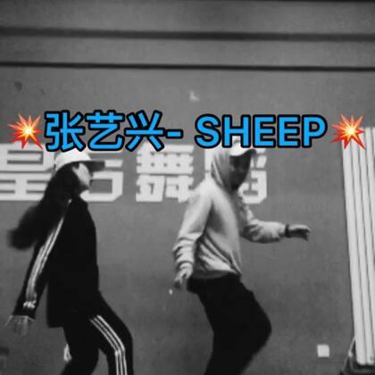 #张艺兴sheep舞# 下课跟我男神来一趴😬@小黑怕