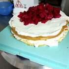 一款很简单的蛋糕,你们谁爱吃棉花糖? #美食##动物奶油蛋糕#
