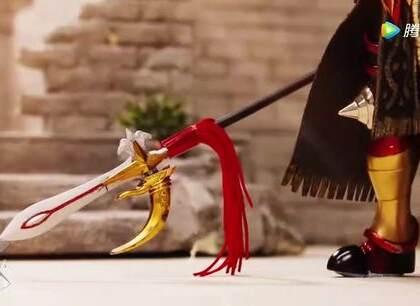 超燃圣衣神话版三国定格动画,吕布VS赵云#定格动画#
