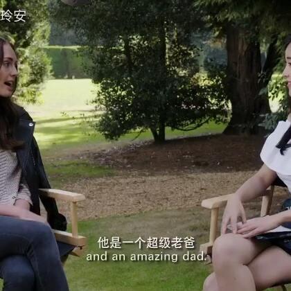 #变形金刚5#英国伦敦片场探班女主角劳拉哈德克!😍#变形金刚##玲安对话好莱坞#