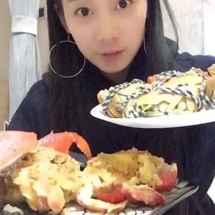 今晚吃得有点多😂😂吃得过瘾#一起来吃大闸蟹##吃秀U乐国际娱乐#