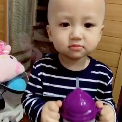 #宝宝#❤️喝水前报备:麻麻,我开动了哦!