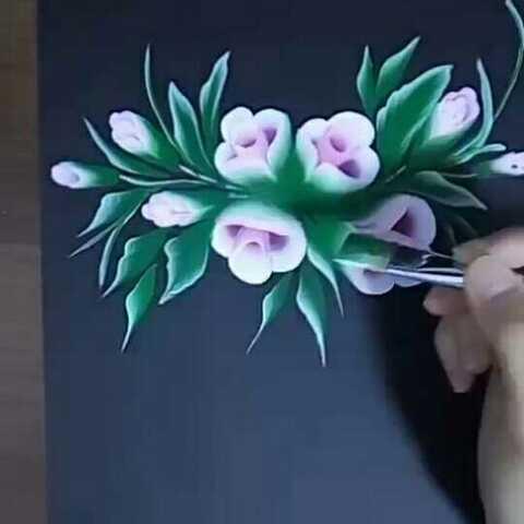 美甲彩绘教程 美甲3d排笔彩绘 我要上热门 美拍小助手 手工视频 荷小荷排笔画的美拍