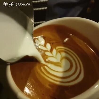 #手工##美拍助手,我要上热门#咖啡拉花分享,微信:Ykhehuamei