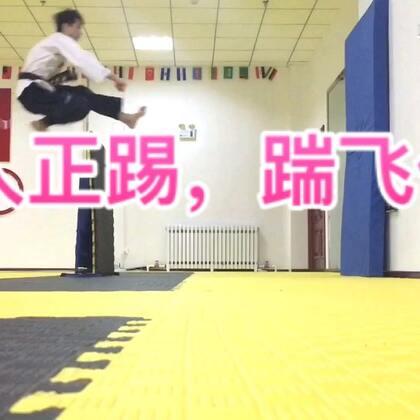 飞人正踢,踹飞你,在生活中很实用!#运动##腾空一跃##跆拳道#
