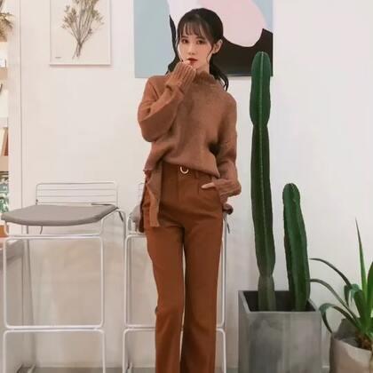 今天你想嫁给我吗?很帅气的一套,慵懒的破洞毛衣也可以穿出干练的味道,高腰➕阔腿裤➕👠分分钟就像接了腿#穿秀##破洞毛衣##今年最热阔腿裤#