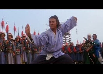 《功守道》主题曲配上这些经典武侠镜头,燃爆了!歌名叫《风清扬》,马云和王菲合唱的!