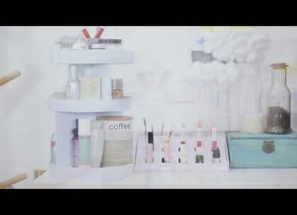#造物集#【快递盒改造旋转收纳架】双十一购物别着急剁手,用快递盒改造成超实用化妆品收纳架!