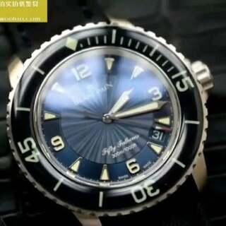 蓝色五十噚 蓝宝石圈口紫色镀膜,超强夜光,45mm 搭配折叠扣赠送一条针扣表带及换带工具 ZF出品