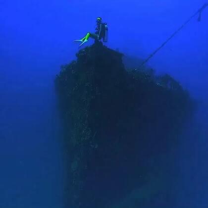 #旅行##潜水##帕劳#这个沉船是我去过最喜欢的 巨大的二战的沉船 一百五十多米长 上面住满了各种生物 超密集的海葵尼莫还有蚌 还有大炮筒和大罗盘 指针 ~ 从海底伸到海面 阳光出来能见度太好了 💙