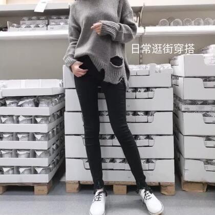 比较舒服的一套日常穿搭,好不容易找到一款舒服修身的小脚裤,今年大多是九分喇叭裤,冬天穿还是有点冷啊,小脚裤配小白鞋短靴都很好搭,是我的最爱#今日穿搭#
