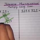 厉害了,日本小学生是这样做乘法的?很爆炸的点线面!#生活百科#