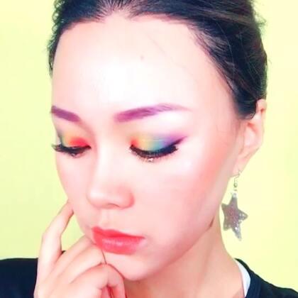 #my own way#特效不枯燥(•̀ᴗ•́)刚锻炼完就画了个彩虹妆~