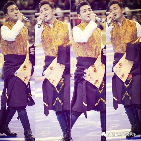 帅气优秀的藏族歌手谢旦