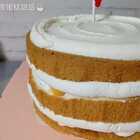 顾客要的无糖裸蛋糕😃 #美食##蛋糕#