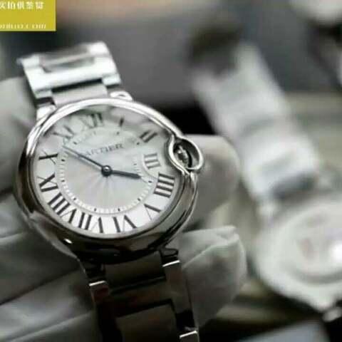【蜗牛名表视频评测美拍】V6厂销量神器卡地亚蓝气球36mm最...
